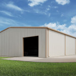 Steel Building with Large Front Opening