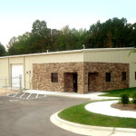 Commercial Steel Building with Stone Entry way