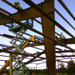 Rhino Steel Building being Constructed