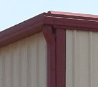 gutters and downspouts as steel building exterior options