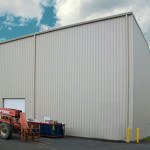 Large Metal Industrial Building with large openings for equipment
