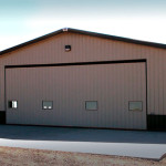 Large Steel RV Garage with Large Rolltop Door