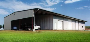 RHINO agricultural steel building with equipment cover