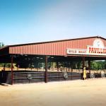 covered steel horseback riding arena pavillion