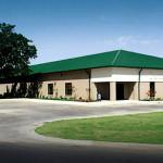 Steel school building with green roof