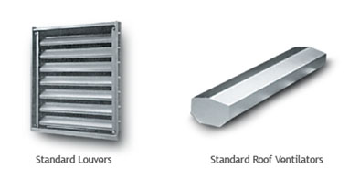 two types of vents as steel building exterior options