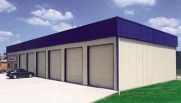 Metal garages steel garages customize build your own for Auto repair shop building plans