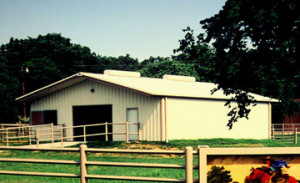 attractive metal barn with roof vents