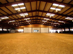 Steel Indoor Horse arena with skylights