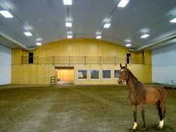 Metal Indoor horse arena with Finished Ceiling