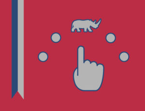 iconic image of a pointing finger choosing a RHINO from the selections.