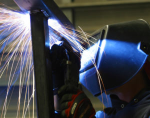 Photo of a welder at work.
