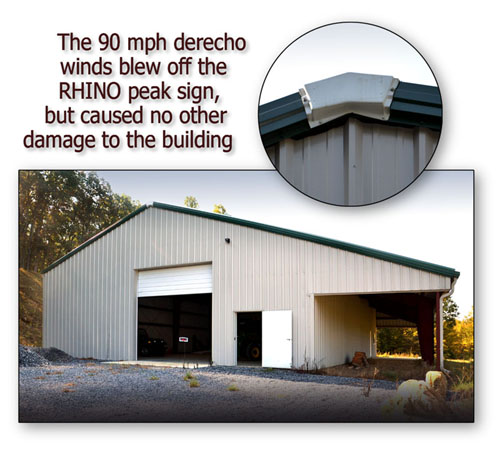 RHINO Metal Building before and after Superstorm Sandy