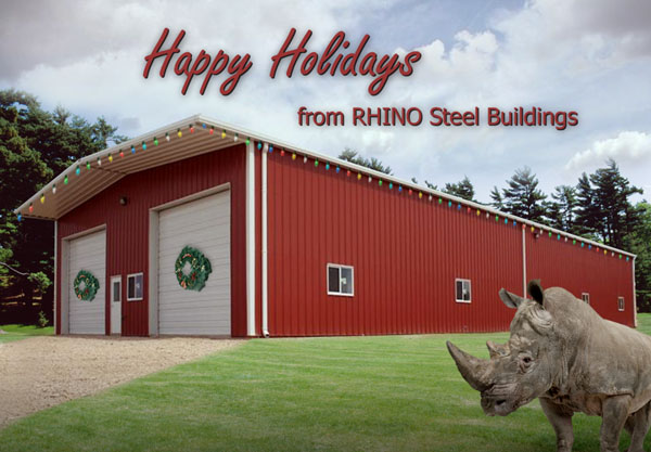 Happy Holidays from RHINO Steel Buildings