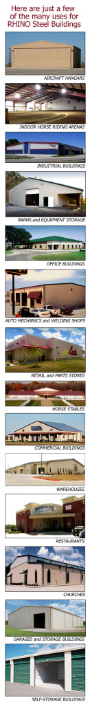 Examples of RHINO Steel Buildings
