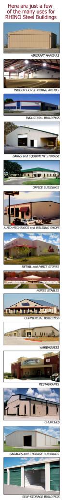 Examples of RHINO Steel Buildings
