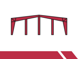 Drawing of a frame for a modular steel building.