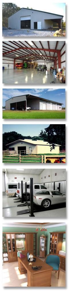 Examples of some of RHINO's Multi-Purpose Metal Storage Buildings