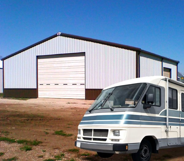 Metal rv garages boat storage buildings steel storage for Motorhome storage building