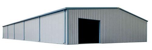 60' x 100' RHINO metal building with opening