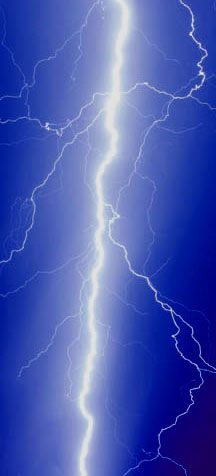In a propoerly grounded steel building, lightning passes harmlessly into the ground.