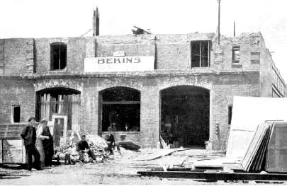Steel storage building in 1906 San Francisco earthquake