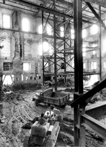 Stripping the White House from the inside out to rebuild as a steel building