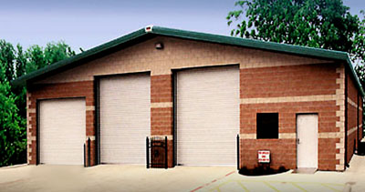 Another RHINO steel building as an auto repair shop
