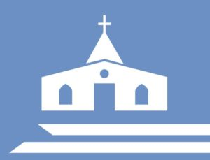 Icon of a steel church building.
