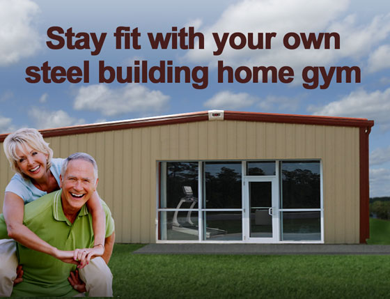 Get fit in a metal building home gym build your own gym for Cost of building a gym