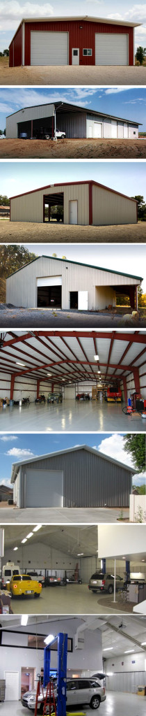 A collage of RHINO Metal Building Workshops