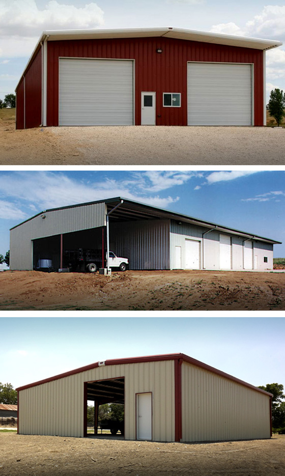 Three examples of various RHINO prefab workshops.