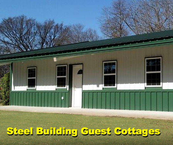Building a steel guest house on your property guest for Cost to build a guest house