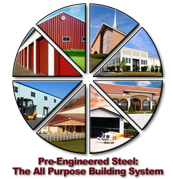 Photos of the various uses for RHINO's pre-engineered steel buildings.