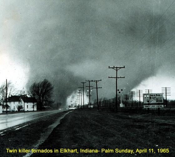 Tornado in Elkhart, Indiana