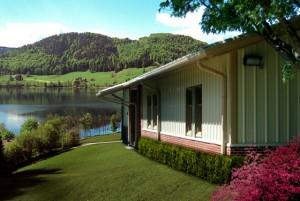 Metal Building Lake Cabin