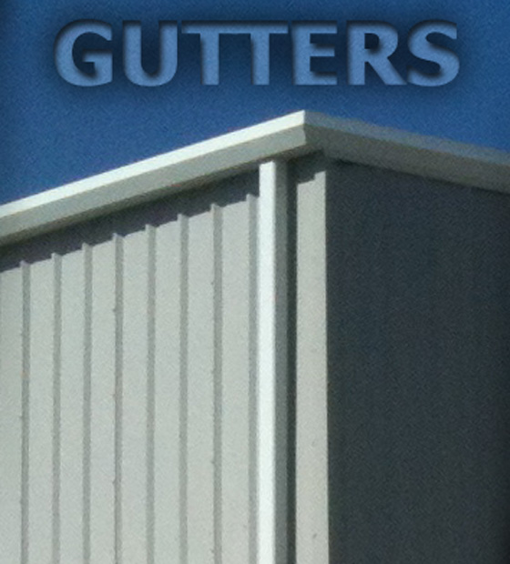 how to put gutters on a metal roof