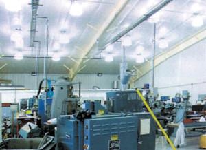 A large industrial machine shop