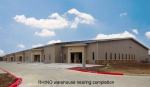 RHINO warehouse nearing completion