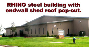 Offices added to the end wall of a large steel-framed manufacturing facility