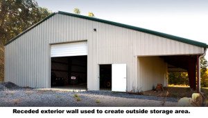 Indented wall- outside storage