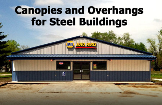 In standard pre-engineered steel buildings the roofline ends flush with sidewalls. That is adequate for many applications where the u201cboxyu201d look of the ... & Steel Buildings: Think Outside the Box- Part 2 | Rooflines ...