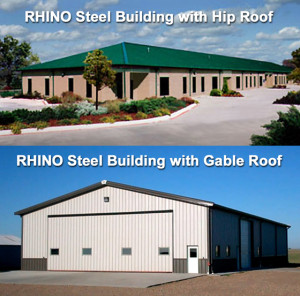 Steel Buildings Gable and Hip Roofs