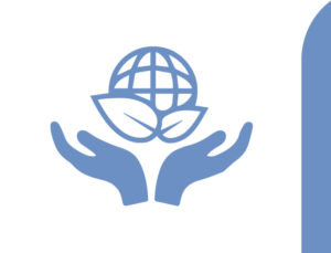 Icon of hands protecting the Earth.