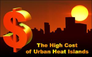 Urban heat island costs