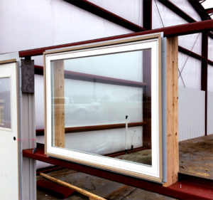 Photo of framing windows in steel buildings.