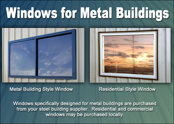Steel building window installation metal building windows no limits on windows in metal buildings sciox Image collections
