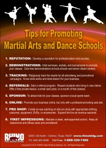 Karate-Dance School Tips infographic