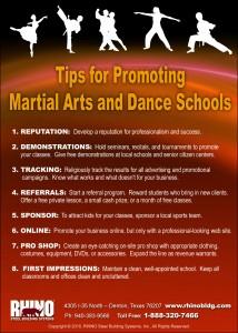 Karate-Dance School Tips infographic