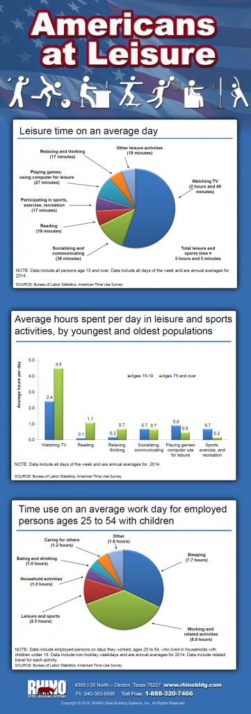 Americans at Leisure infographic